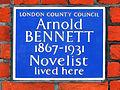 Arnold BENNETT 1867-1931 Novelist lived here.jpg