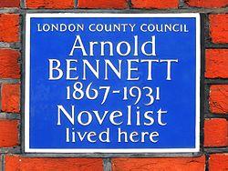 Arnold bennett 1867 1931 novelist lived here