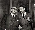 Arnoldo Mondadori e Georges Simenon archivi Mondadori AA205605.jpg
