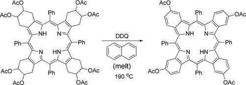 Aromatization of porphyrin in naphthalene melt.tif