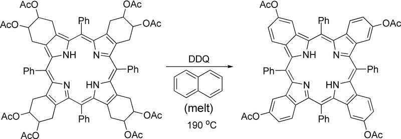 File:Aromatization of porphyrin in naphthalene melt.tif