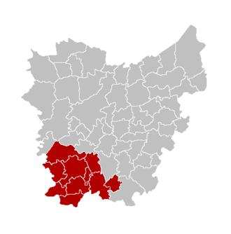 Arrondissement of Oudenaarde - Image: Arr Oudenaarde Locatie