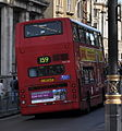 Arriva London North bus VLA125 (LJ05 BJF) 2005 Volvo B7TL Alexander ALX400, Whitehall, route 159, 25 May 2011 (1).jpg