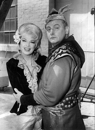 Art Carney - Carney as The Archer on Batman, with co-star Barbara Nichols.