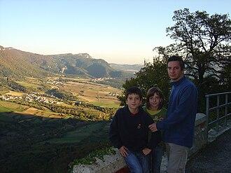 Battle of Artaza - Fields of Artaza in Améscoa Baja seen from Zudaire.