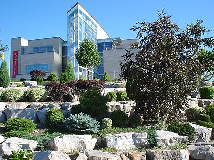 Art Gallery of Windsor overlooking riverfront rock gardens Artgallerywindsor.jpg