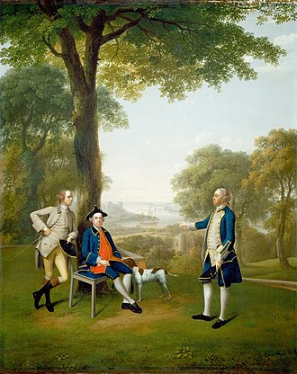 Arthur Howe Holdsworth - Arthur Holdsworth, seated, Devonshire merchant and father of Arthur Howe Holdsworth, 1757
