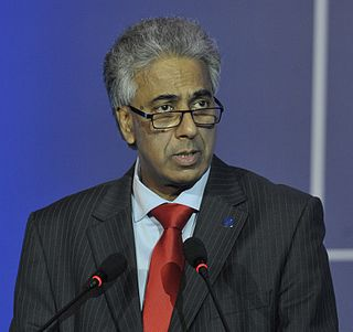 Arvin Boolell Leader of Opposition of Mauritius
