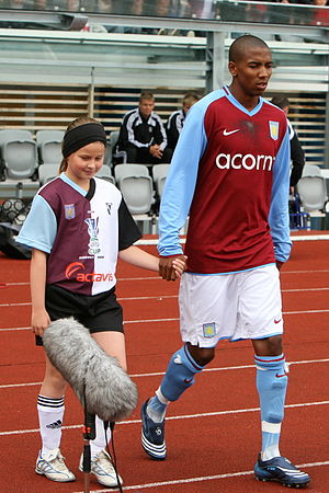 Ashley Young - Young (right) with Aston Villa in 2008
