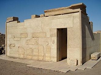 Temple of Satet - Modern reconstruction of the temple of Senusret I.