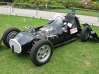 Bill Aston - Aston Butterworth NB42 displayed at Motor Sport at the Palace Crystal Palace circuit, 25 May 2015