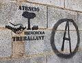 Atenció Iberdrola treballant, No a l'Alta Tensió, Albaida.JPG