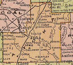 Atoka County Oklahoma Wikipedia - Counties of oklahoma map