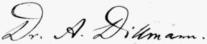 August Dillmann - Image: August Dillmann signature
