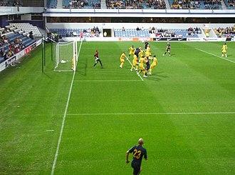 Loftus Road - A corner taken during the Australia vs South Africa international in 2008.