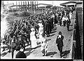 Australian Army soldiers marching near Central Railway Station, Sydney, 1914-1918 (7107897571).jpg