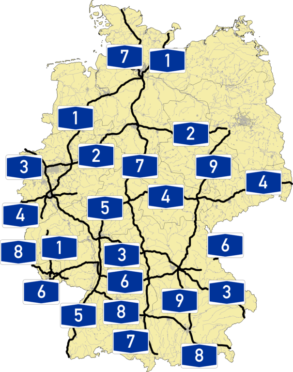 Where Is The Autobahn In Germany Map.File Autobahn 1 9 Png Wikimedia Commons
