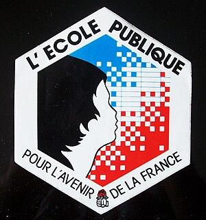 Falloux Laws - autocollant édité par la PS lors des manifestations de janvier 1994