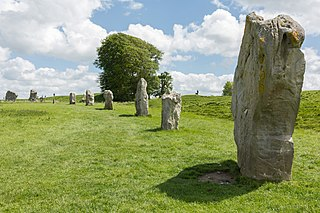 Avebury Neolithic henge monument in Wiltshire, England