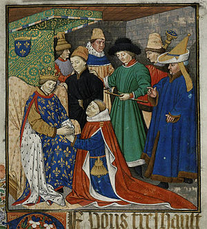 René of Anjou - René, as a vassal, paying homage to the King of France.
