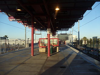 Aviation/LAX station - Aviation station platforms.