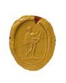 Avtryck av fingerring förställande romersk trädgårdsgud - Hallwylska museet - 110225.tif