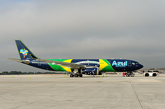 Azul Brazilian Airlines - Azul flagship A330 PR-AIV in Ft. Lauderdale