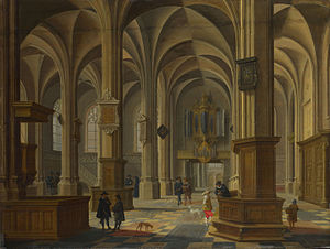 Bartholomeus van Bassen - Interior of the Cunerakerk Rhenen