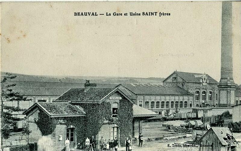 BEAUVAL - La Gare et Usine Saint Frères.jpg
