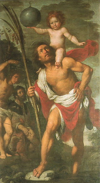 Saint Christopher - Image: B Strozzi Cristof 1