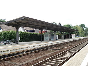 Hildesheim–Goslar railway - The rebuilt platform towards Goslar in Salzgitter-Ringelheim station