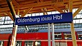 Bahnhofsschild Oldenburg (Oldb) Hbf 1807160724.jpg