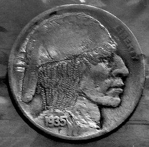 Hobo nickel - An example of a hobo nickel