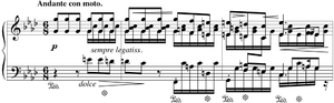 Ballades (Chopin) - Opening bars of Ballade No. 4