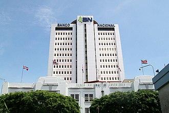 Banco Nacional de Costa Rica - BNCR headquarters in San José, Costa Rica