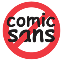Ban Comic Sans sticker