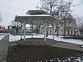 Bandstand and church, Pestújhelyi tér, 2018 Pestújhely.jpg