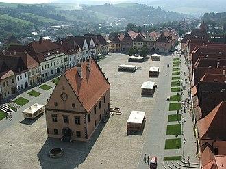 Bardejov - The Town Hall Square (Radničné námestie) in Bardejov