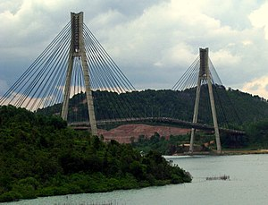 Barelang Bridge - The cable-stayed Tengku Fisabilillah is connecting Batam Island and Tonton Island