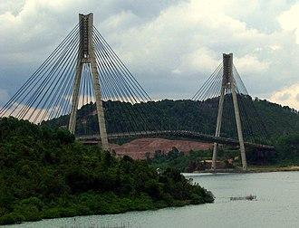 Barelang Bridge - The cable-stayed Tengku Fisabilillah is connecting Batam Island and Tonton Island