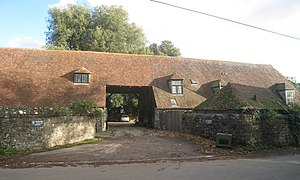 Boughton Monchelsea Place - West side of the barn