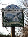Barton Bendish village sign (close-up) - geograph.org.uk - 1634039.jpg