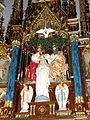 Basilica of Saint Francis Xavier (Dyersville, Iowa), interior, detail of shrine depicting the Coronation of Saint Mary.jpg
