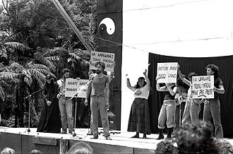 Bastion Point - Bastion Point activist campaign at Nambassa alternatives festival 1981.