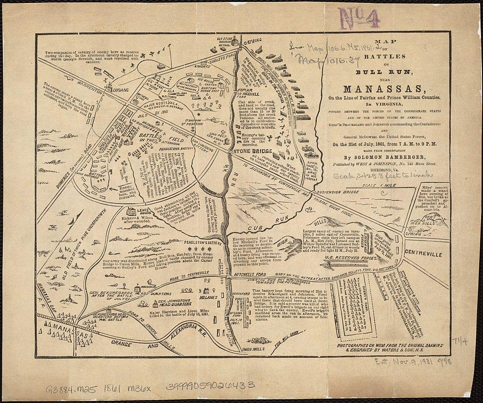 Battles on Fairfax and Prince William border