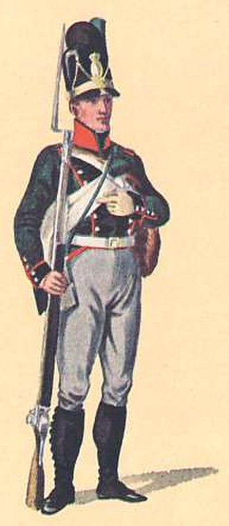 Bavarian Army - A schütze from the 2nd Light Infantry Battalion Dietfurth, 1806.