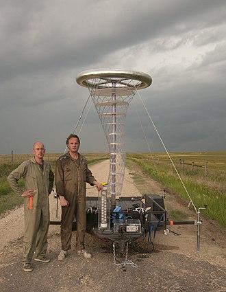 Bigert & Bergström - Image: Bb in front of tornado diverter