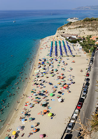 Tropea - The beach as seen from Santa Maria dell'Isola.