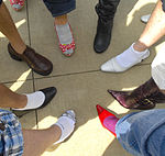 Bearing blisters for women, Men stand tall to raise awareness 130413-F-XD389-063.jpg