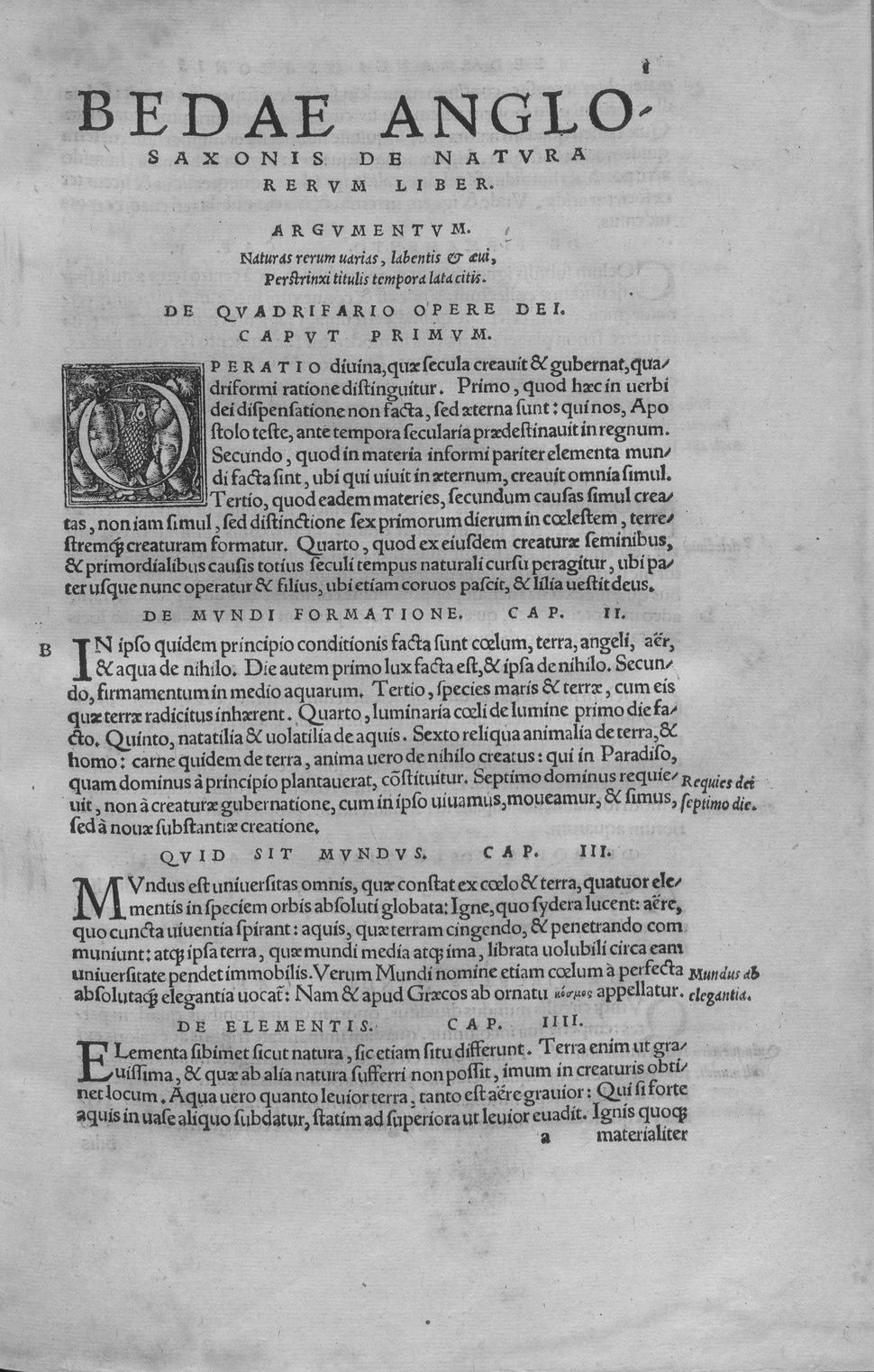 Beda - De natura rerum, 1529 - 4784142